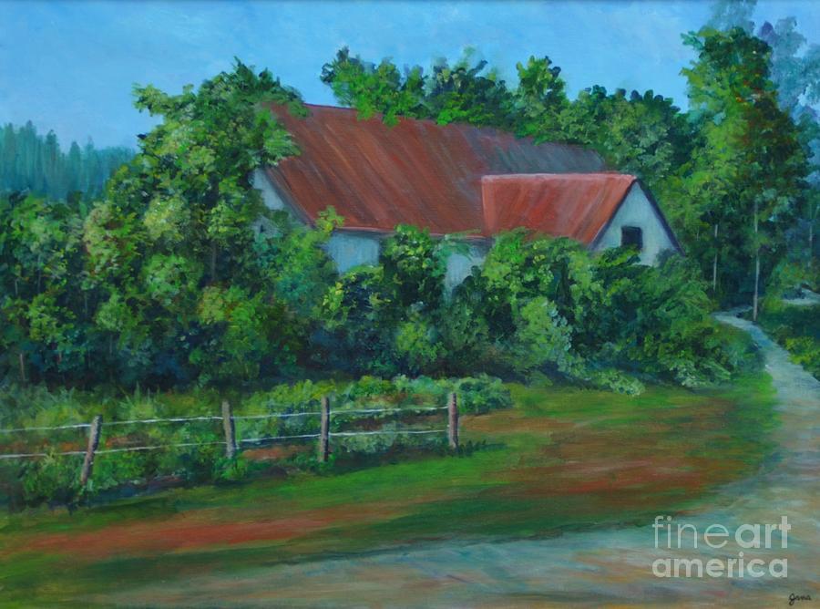 Landscape Painting - Abandoned  by Jana Baker