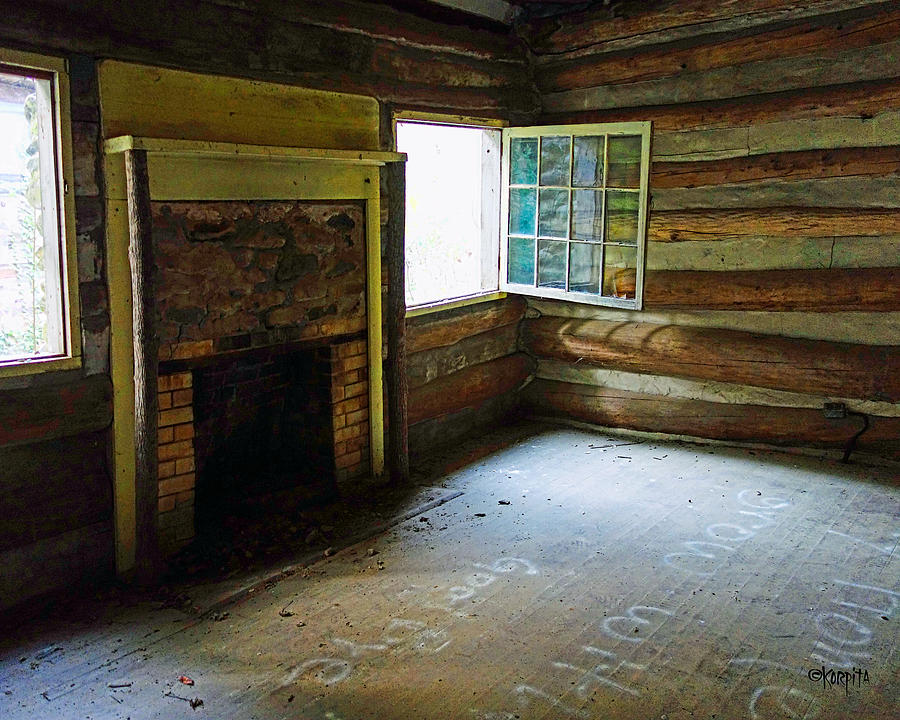Abandoned Log Cabin Elkmont Old House Window Fireplace