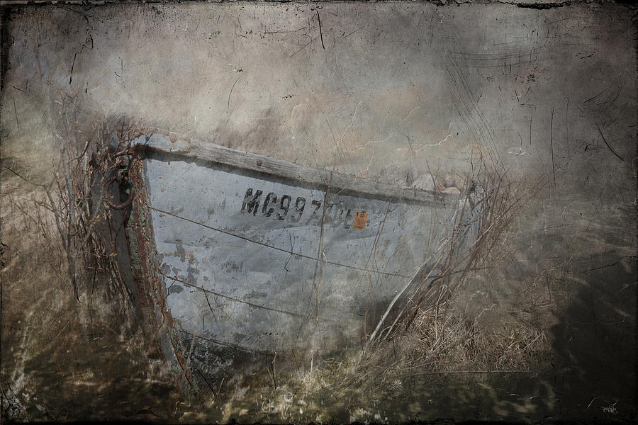 Beach Grass Photograph - Abandoned On Sugar Island Michigan by Evie Carrier