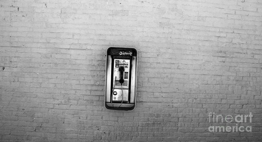 Public Telephone Photograph - Abandoned Payphone. Nyc. by Mark Thomas