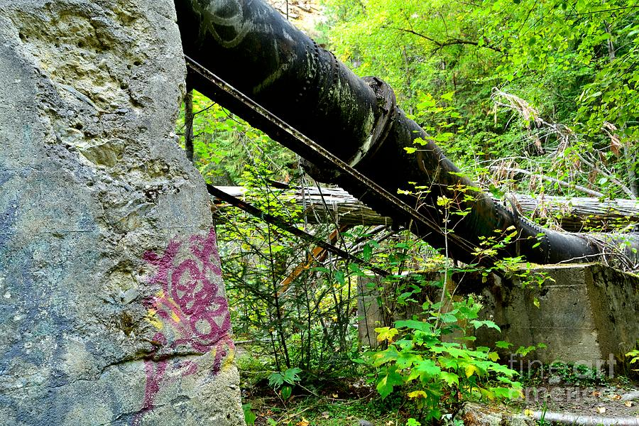 Derelict Photograph - Abandoned Pipeline I by Phil Dionne