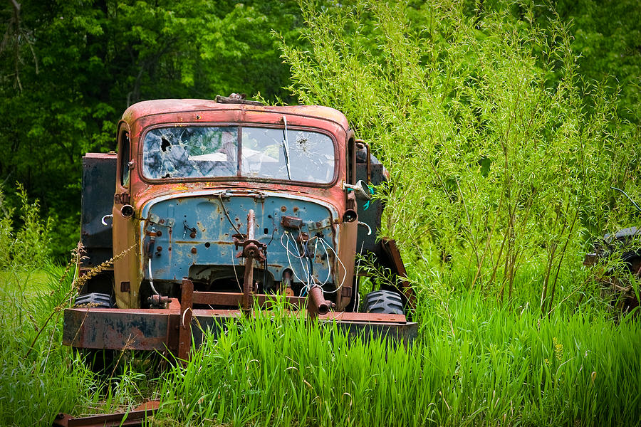 3scape Photos Photograph - Abandoned Truck In Rural Michigan by Adam Romanowicz