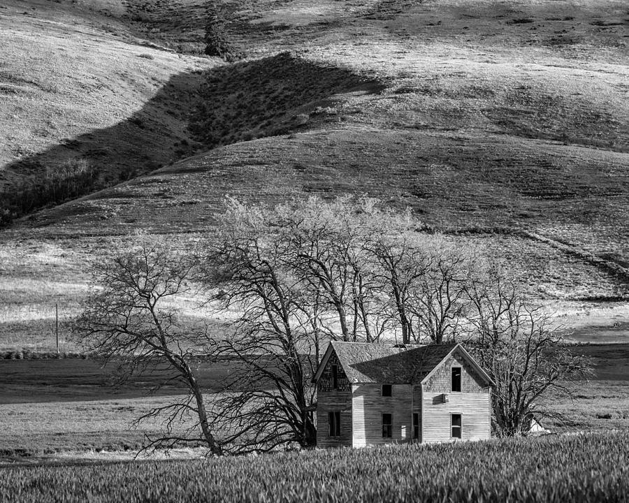 2013 Photograph - Abandoned Two-story Farmhouse - P Road Nw - Waterville - Washington - May 2013 by Steve G Bisig
