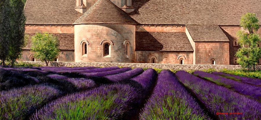 Senanque Abbey Painting - Abbey Lavender by Michael Swanson