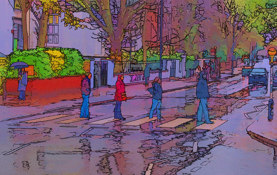 Abbey Road Beatles Photograph - Abbey Road Crossing by Chris Thaxter