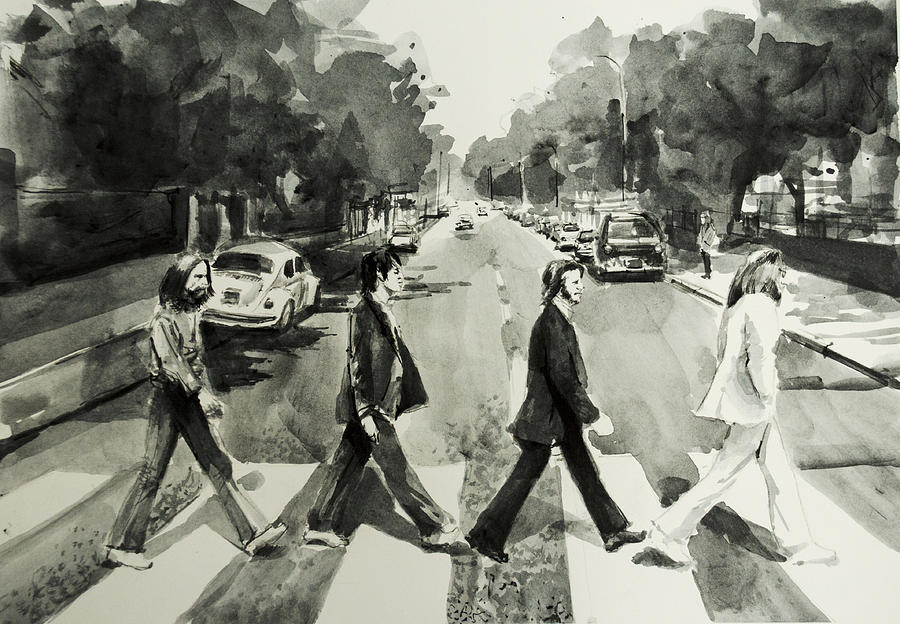 The Beatles Painting - Abbey Road by Bekim M