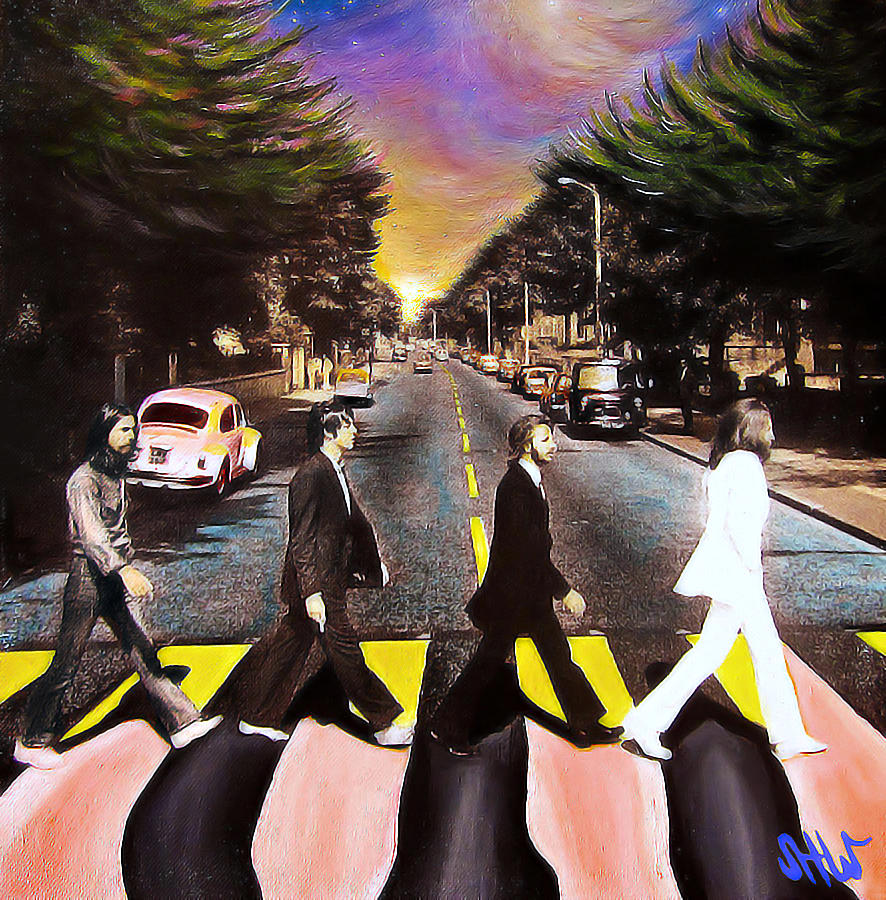 The Beatles Painting - Abbey Road by Steve Will