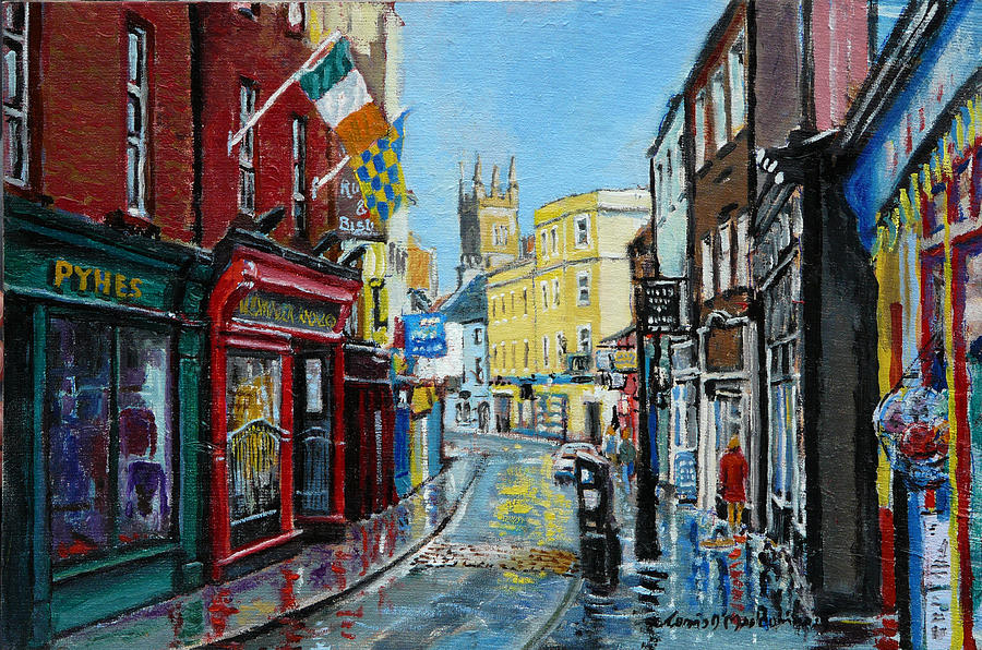 Ennis Painting - Abbey Street Ennis Co Clare Ireland by Tomas OMaoldomhnaigh