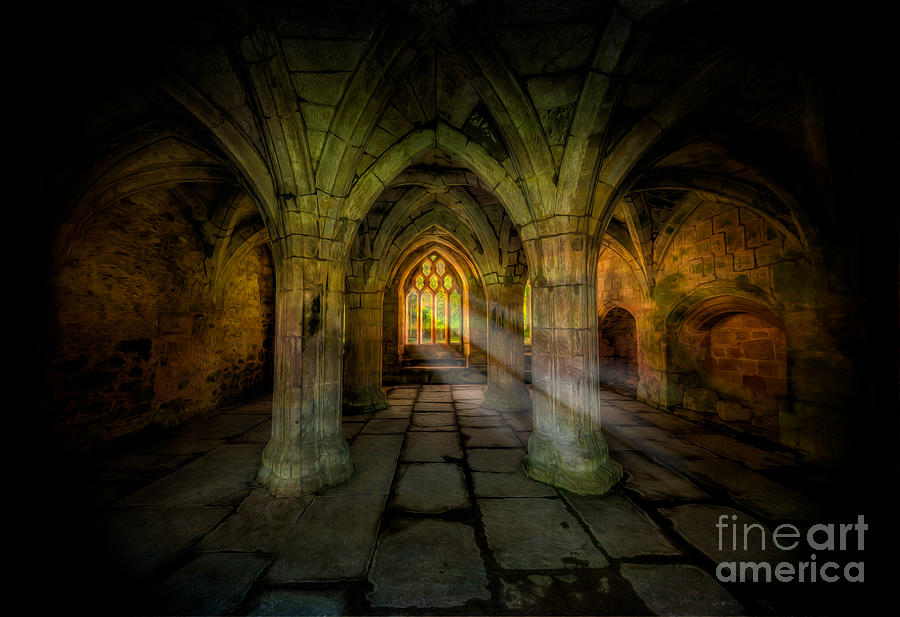 Valle Crucis Photograph - Abbey Sunlight by Adrian Evans