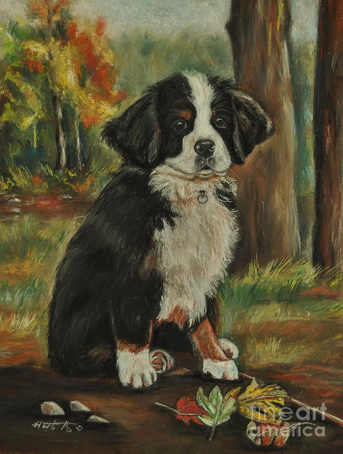 Pet Painting - Abby - Bernese Mountain Dog by Heather Kertzer