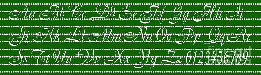Alphabet Digital Art - Abc 123 Green by Andee Design
