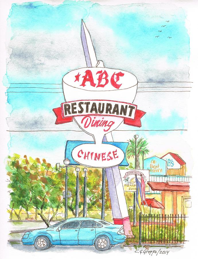 Abc Restaurant In Route 66 Andy Devine Ave - Kingman - Arizona Painting