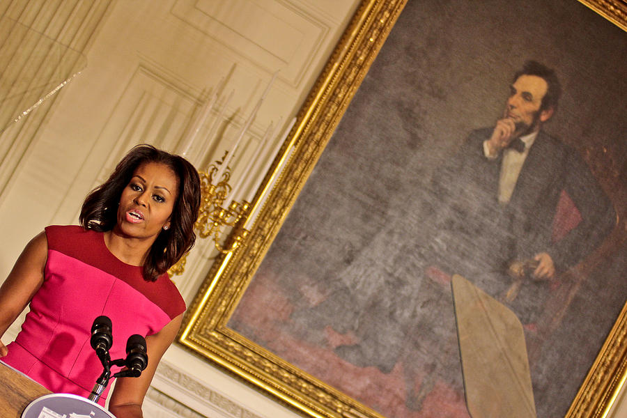 Michelle Obama Photograph - Abe...and The First Lady by Douglas Adams