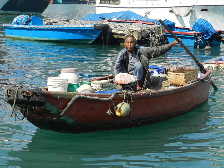 Hong Kong Photograph - Abeerden Harbour Hong Kong by Sandra Sengstock-Miller