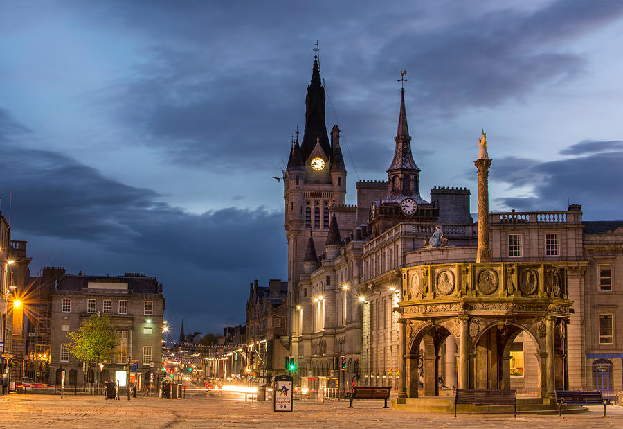 Aberdeen at night