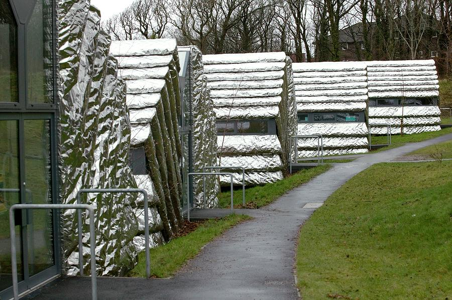 Building Photograph - Aberystwyth Arts Centre Units by David Woodfall Images/science Photo Library