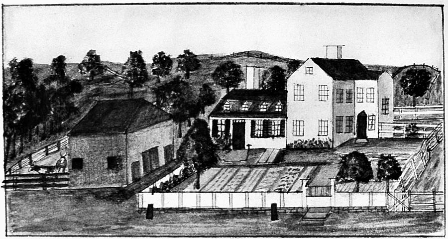 17th Century Drawing - Abigail Adams Home by Granger