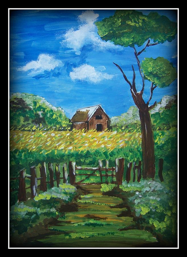 Landscape Indian Village. Painting - Abode by Juna Dutta