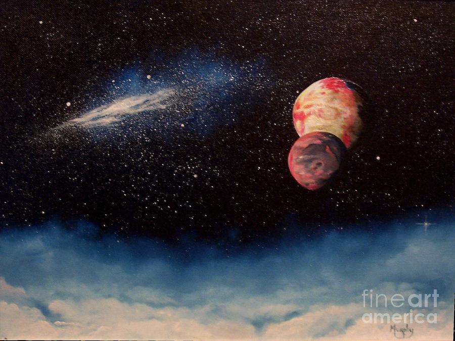 Landscape Painting - Above Alien Clouds by Murphy Elliott