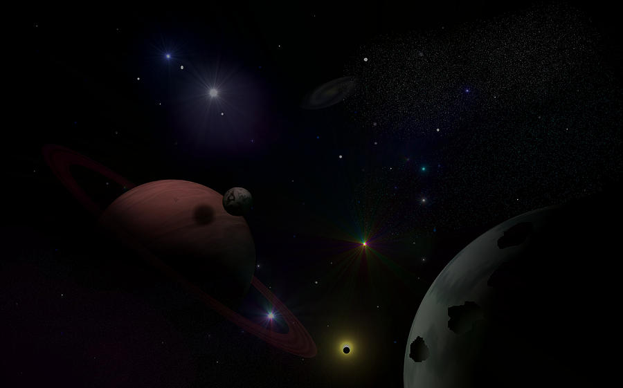 Planets Digital Art - Above And Beyond by Ricky Haug