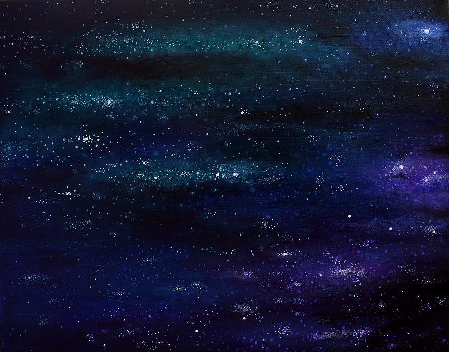Space Painting - Above by Erin Scott