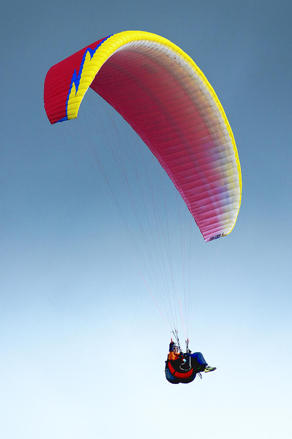 Paraglider Photograph - Above It All by Bob Stevens
