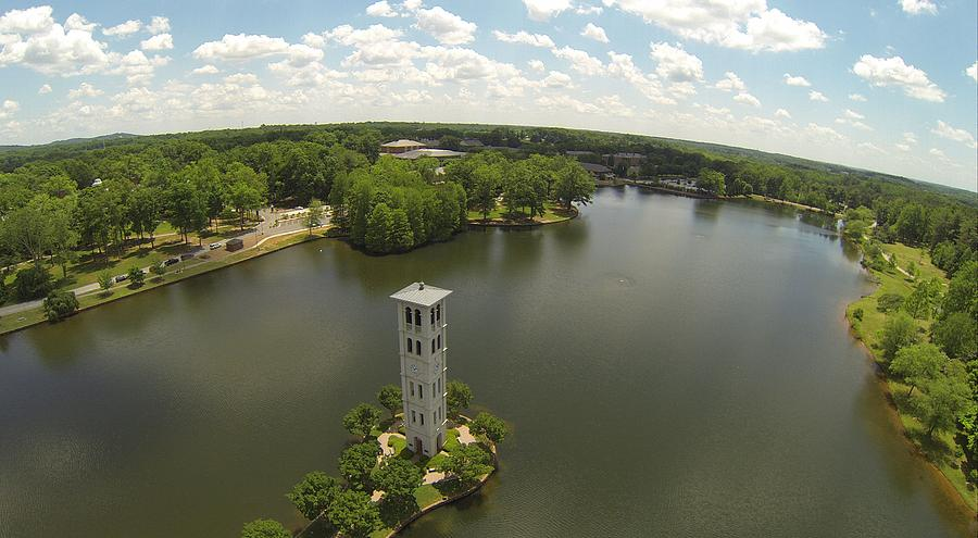 Furman Photograph - Above The Bell Tower by Rick Lecture