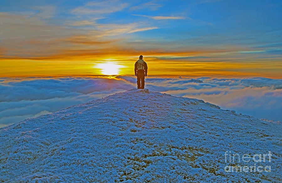 Sunset Photograph - Above The Clouds by Lynne Sutherland