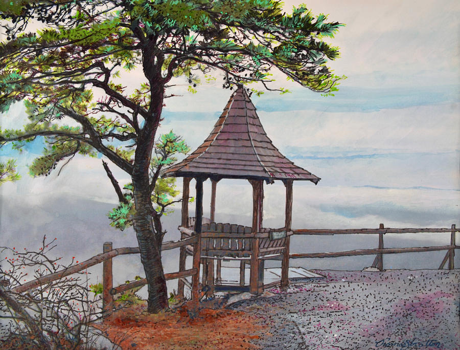 Mohonk Painting - Above The Clouds by Thomas Stratton