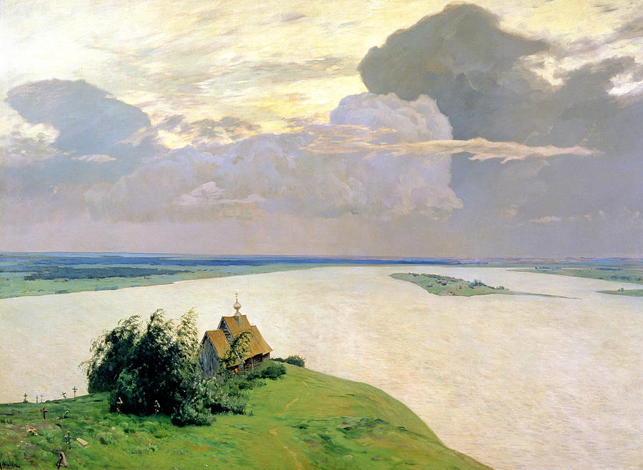 Levitan Painting - Above The Eternal Peace by Isaak Ilyich Levitan