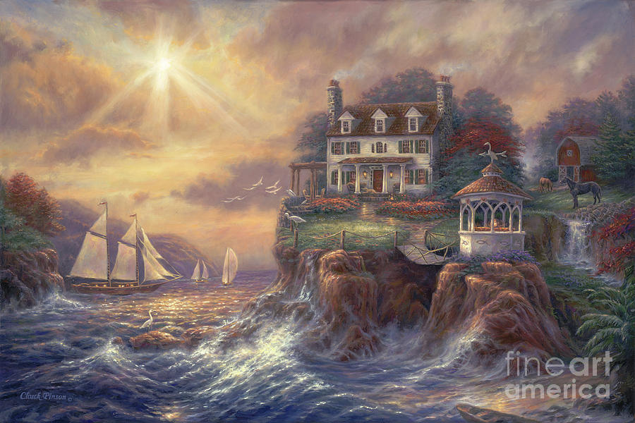 New England Painting - Above The Fray by Chuck Pinson