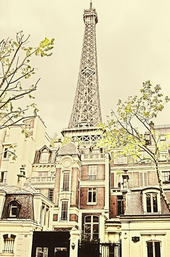 Eiffel Tower Photograph - Above The Rooftops by Jenny Hudson