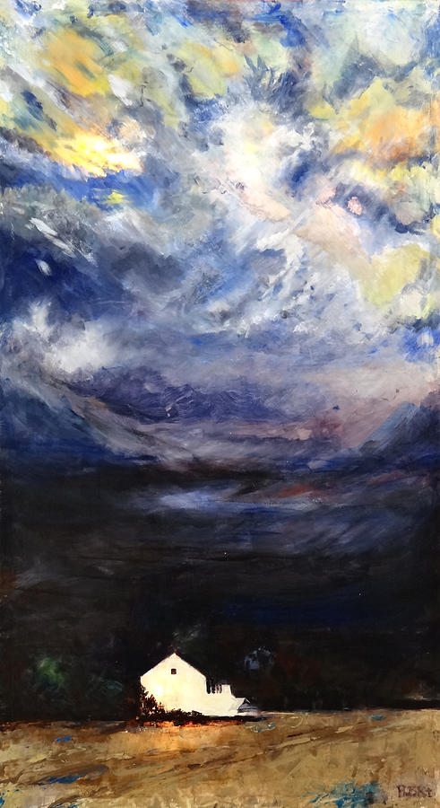 Night Mixed Media - Above The Storm by Patty Kingsley