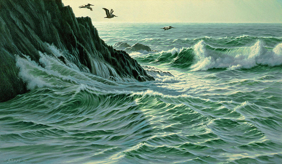 Seascape Painting - Above The Surf by Paul Krapf
