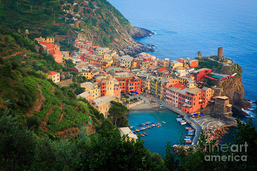 Cinque Terre Photograph - Above Vernazza by Inge Johnsson