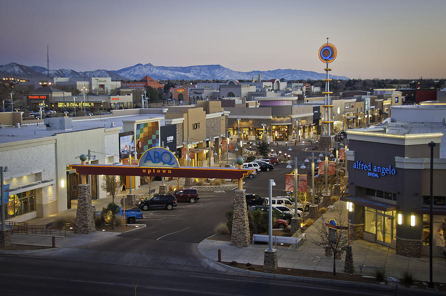 Abq Uptown Shopping Center Photograph by Jon Zich