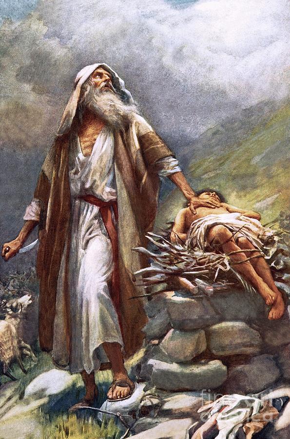 Man Painting - Abraham And Isaac by Harold Copping