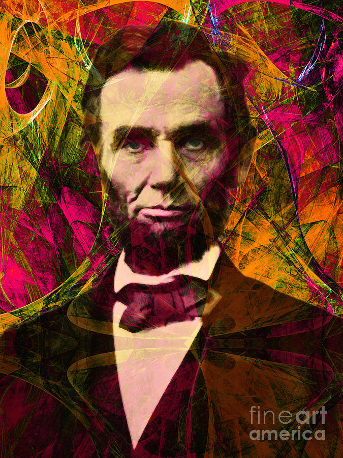 Celebrity Photograph - Abraham Lincoln 2014020502 by Wingsdomain Art and Photography