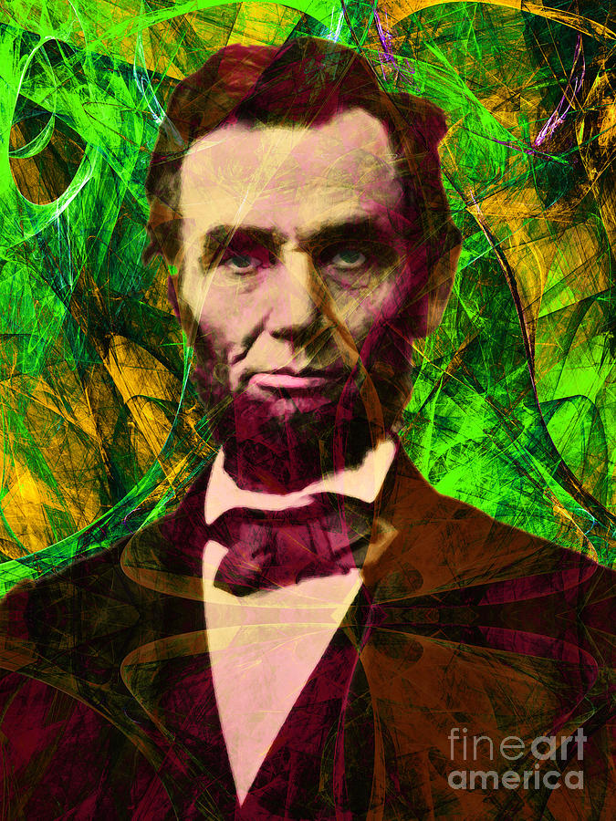 Celebrity Photograph - Abraham Lincoln 2014020502p68 by Wingsdomain Art and Photography