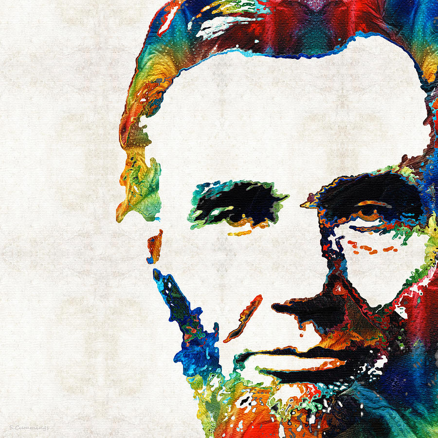 Abraham Lincoln Painting - Abraham Lincoln Art - Colorful Abe - By Sharon Cummings by Sharon Cummings