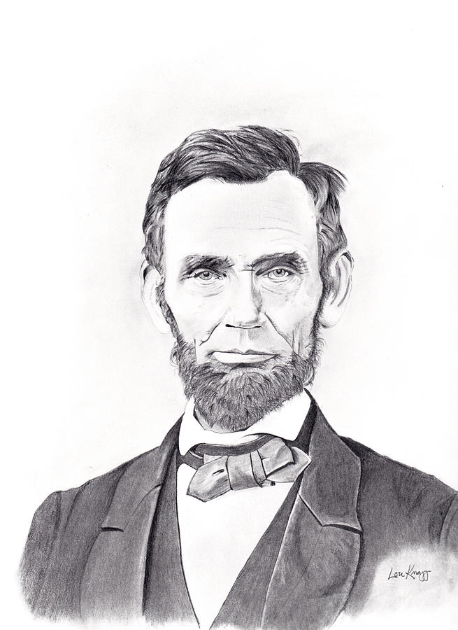 Abraham Lincoln Drawing By Lou Knapp