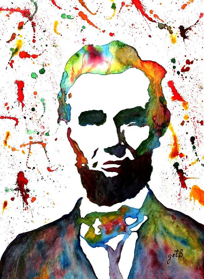 Abraham Lincoln Painting - Abraham Lincoln Original Watercolor Painting by Georgeta Blanaru