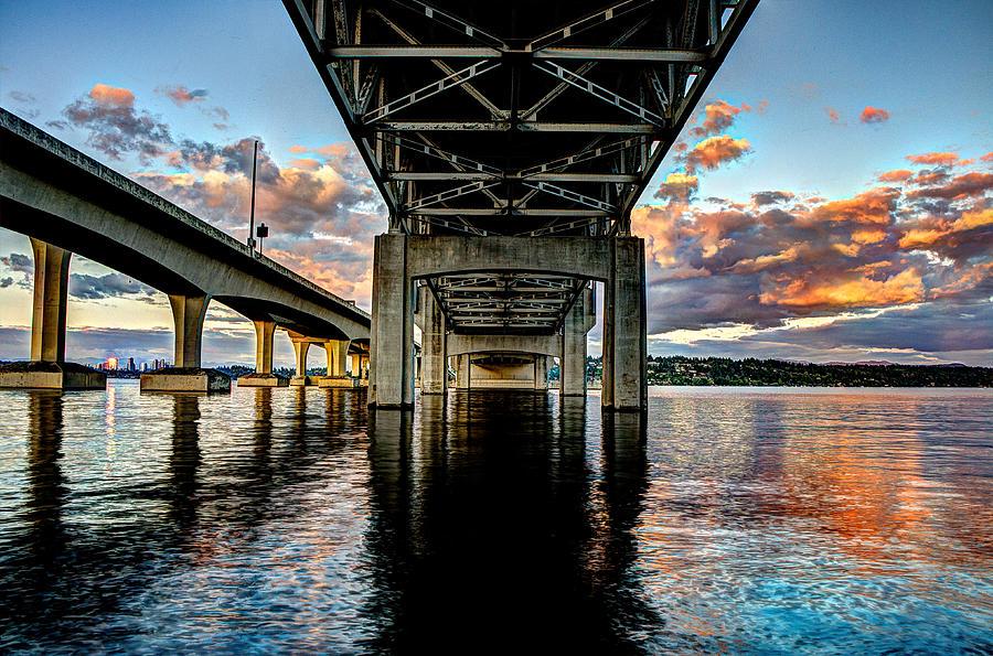 Bridges Photograph - Abridged Sunset by Brian Xavier