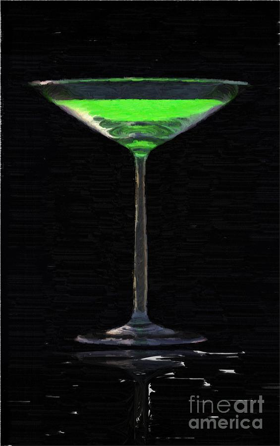 Alcohol Painting - Absinth In The Glass by Aleksey Tugolukov