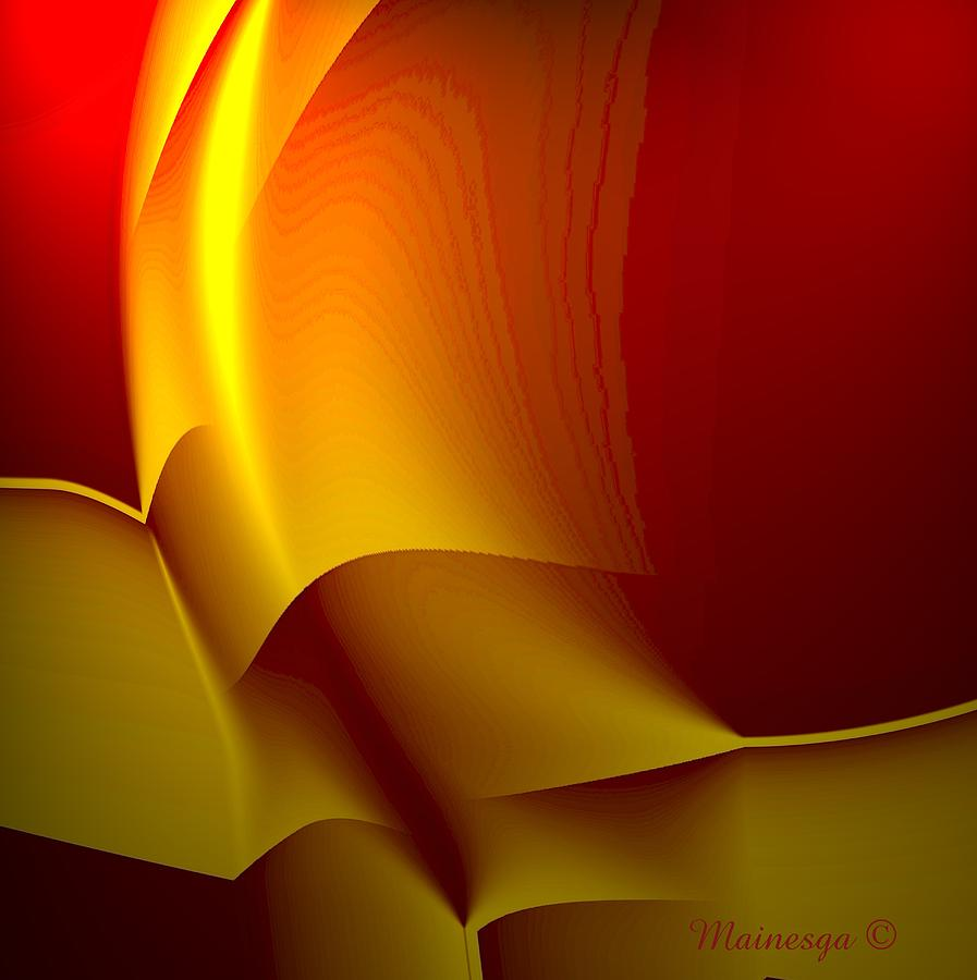 Abstract Digital Art - Abstract 2-0-13 by Ines Garay-Colomba