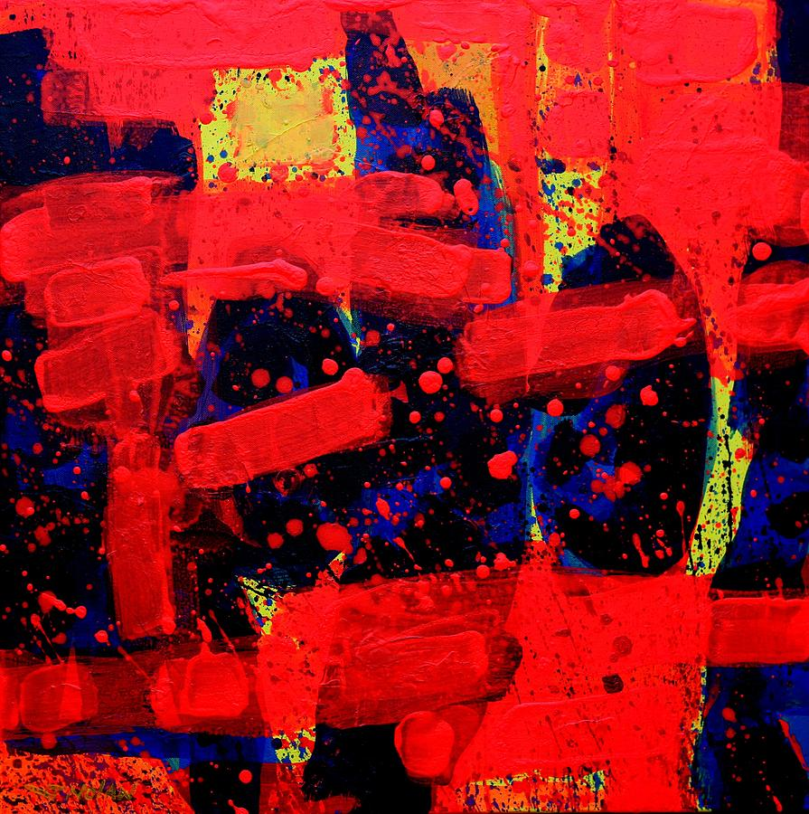Abstract Painting - Abstract 22115 Rhapsody by John  Nolan