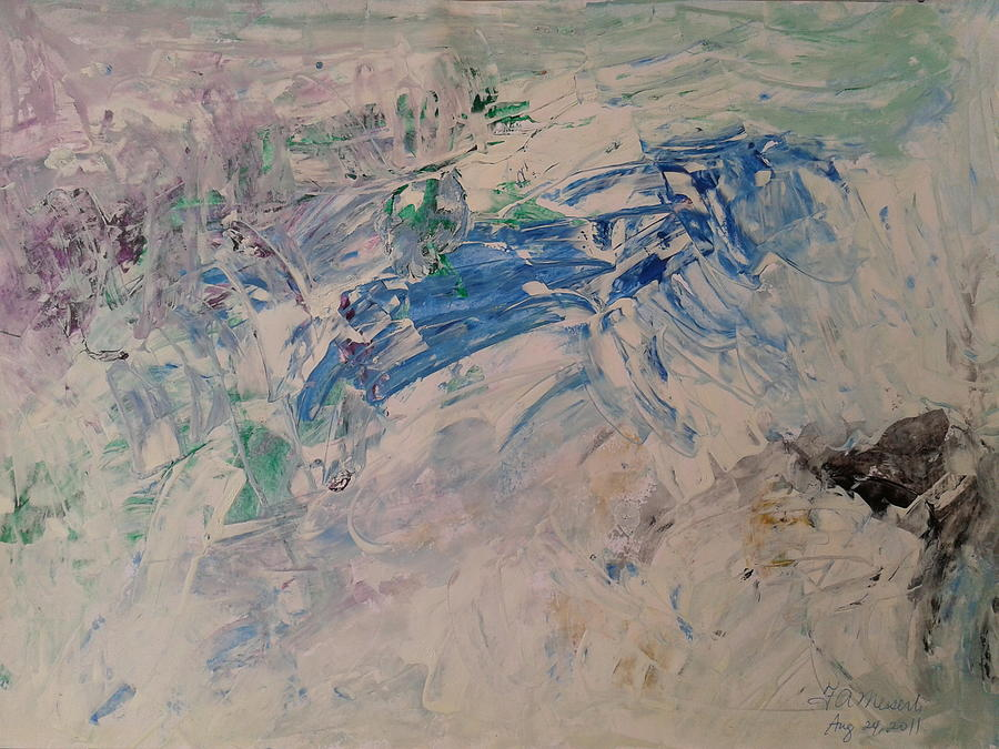 Abstract Acrylic Painting - Abstract 25 by Fladelita Messerli-