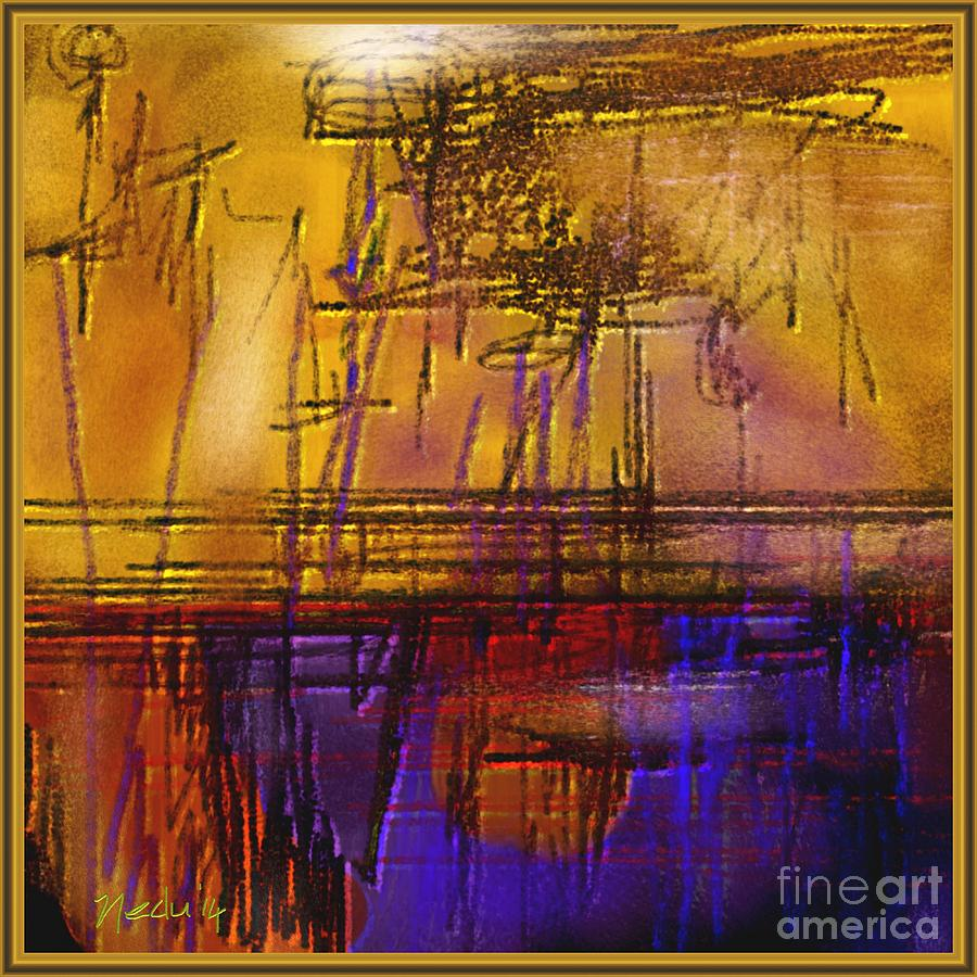 Art Prints Painting - Abstract 970 by Nedunseralathan R
