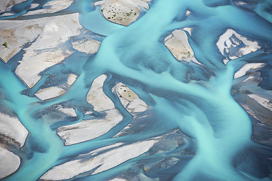 Abstract Aerial View Of River Bed Photograph by Laurenepbath