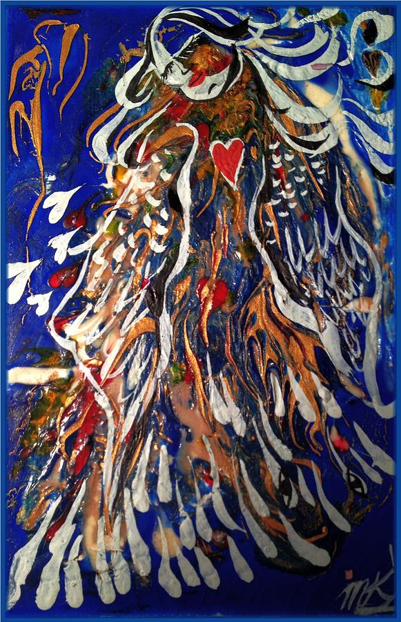 Angel Painting - Abstract Angel by Michaela Kraemer